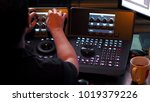 telecine controller machine for ...   Shutterstock . vector #1019379226