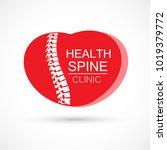 spine heart logo clinic... | Shutterstock .eps vector #1019379772