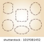 set vector retro frames .vector ... | Shutterstock .eps vector #1019381452