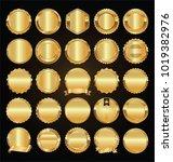 empty golden retro labels and... | Shutterstock .eps vector #1019382976