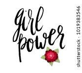 girl power greeting card with... | Shutterstock .eps vector #1019383546