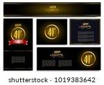 happy anniversary design card... | Shutterstock .eps vector #1019383642