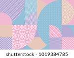 concept pastel color geometric... | Shutterstock .eps vector #1019384785