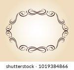 elegant frame.vector... | Shutterstock .eps vector #1019384866