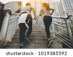 fitness  sport  people and... | Shutterstock . vector #1019385592