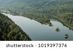 landscape with a river and... | Shutterstock . vector #1019397376