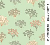 seamless pattern with bunches... | Shutterstock .eps vector #1019398945