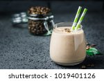 chocolate mocha breakfast... | Shutterstock . vector #1019401126