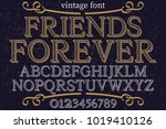 vintage font typeface... | Shutterstock .eps vector #1019410126