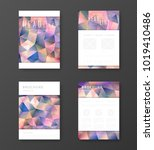brochure template layout with... | Shutterstock .eps vector #1019410486