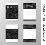 brochure template layout with... | Shutterstock .eps vector #1019410492