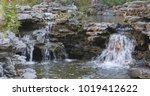 water pond in garden  chinese...   Shutterstock . vector #1019412622