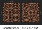 laser cutting set. woodcut... | Shutterstock .eps vector #1019414455