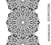 seamless border for coloring... | Shutterstock .eps vector #1019415286
