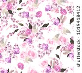 beautiful watercolor pattern... | Shutterstock . vector #1019418412