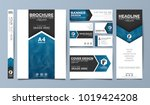 blue corporate identity set... | Shutterstock .eps vector #1019424208