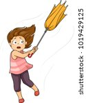 illustration of a kid girl... | Shutterstock .eps vector #1019429125