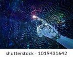 3d rendering robot finger...   Shutterstock . vector #1019431642