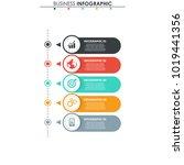 business data. process chart.... | Shutterstock .eps vector #1019441356