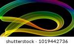 abstract colorful ribbon  vivid ... | Shutterstock . vector #1019442736