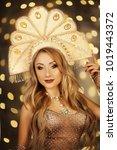 russian beauty. attractive...   Shutterstock . vector #1019443372