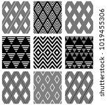 set of seamless diamonds... | Shutterstock .eps vector #1019455306