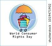 world consumer rights day...   Shutterstock .eps vector #1019471902