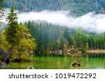 wonderful autumn of hintersee... | Shutterstock . vector #1019472292