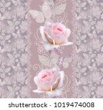 seamless pattern. decorative... | Shutterstock . vector #1019474008