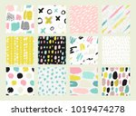 hand drawn textures made with... | Shutterstock .eps vector #1019474278