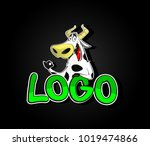 cartoon logo design. farm... | Shutterstock .eps vector #1019474866