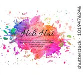 happy holi colorful festival... | Shutterstock .eps vector #1019476246