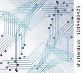 circuit board  technology... | Shutterstock .eps vector #1019480425