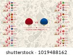 match schedule  flags of... | Shutterstock .eps vector #1019488162