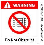 do not obstruct  prohibition... | Shutterstock .eps vector #1019488606