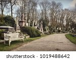 cemetery in london | Shutterstock . vector #1019488642