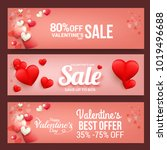 header or banner of valentines... | Shutterstock .eps vector #1019496688