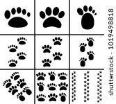 footprint icons set | Shutterstock .eps vector #1019498818
