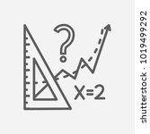 math icon line symbol. isolated ...