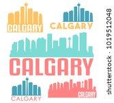 calgary canada flat icon... | Shutterstock .eps vector #1019512048