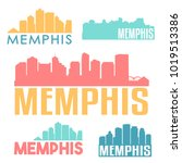 memphis tennesse usa flat icon... | Shutterstock .eps vector #1019513386