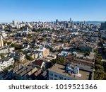 majestic cityscape of san... | Shutterstock . vector #1019521366