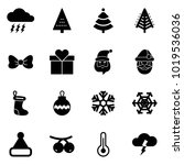 solid vector icon set   storm... | Shutterstock .eps vector #1019536036
