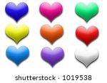 heart buttons | Shutterstock . vector #1019538