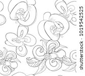 coloring seamless pattern with  ... | Shutterstock .eps vector #1019542525