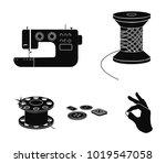 thread reel  sewing machine ...   Shutterstock .eps vector #1019547058