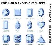 popular diamond cut shapes  ... | Shutterstock .eps vector #1019560726