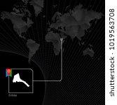 eritrea on black world map. map ... | Shutterstock .eps vector #1019563708