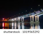 night view of illuminated... | Shutterstock . vector #1019565292