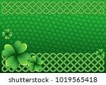 rich green saint patrick's day...   Shutterstock .eps vector #1019565418